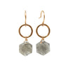 Limited Edition Hexagon Dangle earrings