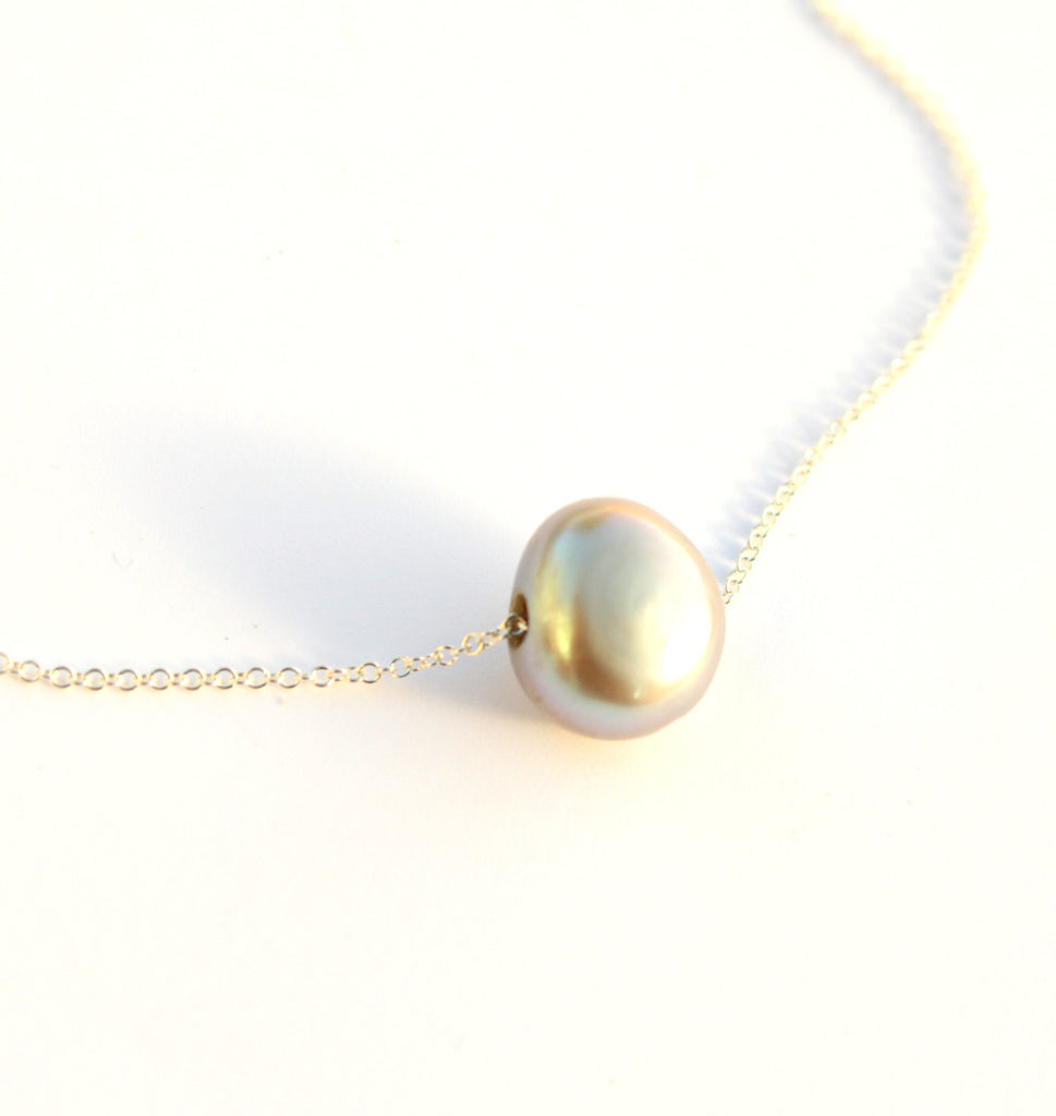 Steel Pearl necklace
