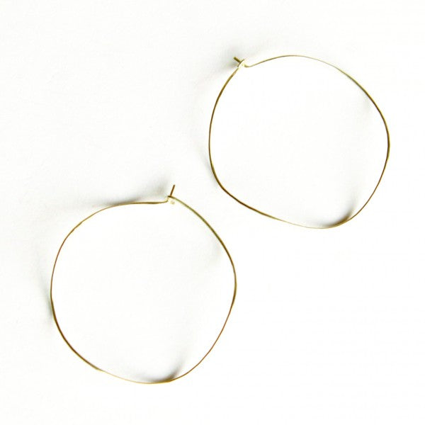 Large Wave hoop earrings