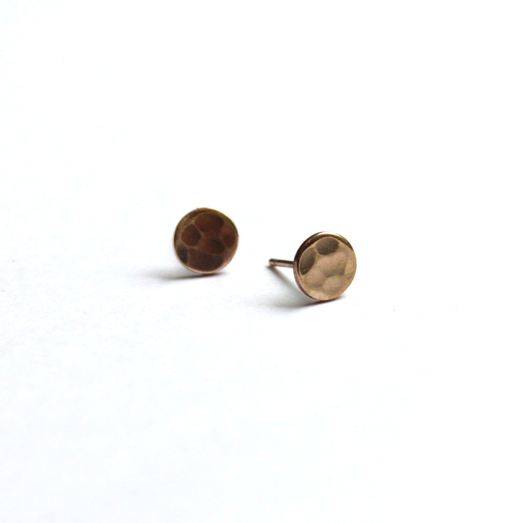 A Little Bit Bigger than Small, but not quite medium disc stud earrings