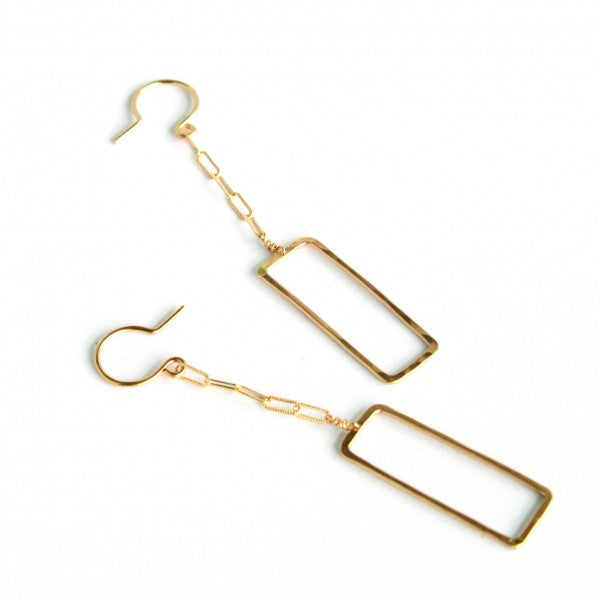 Rectangle Dangles - Jamison Rae Jewelry
