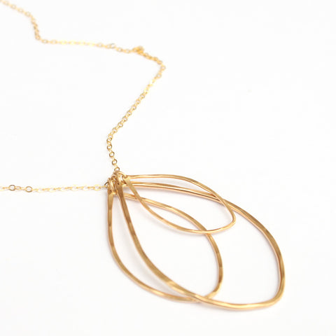 Three Leaves necklace - Jamison Rae Jewelry
