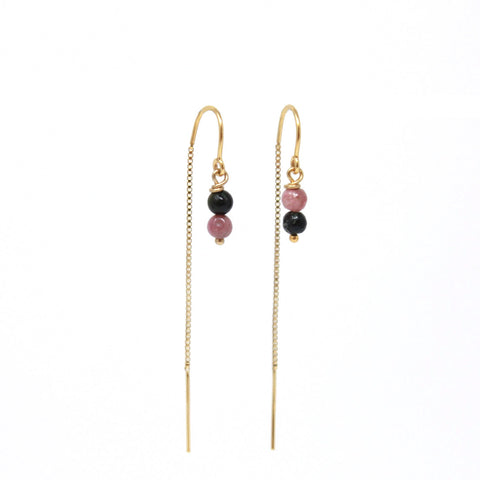 Tourmaline Ear Threaders