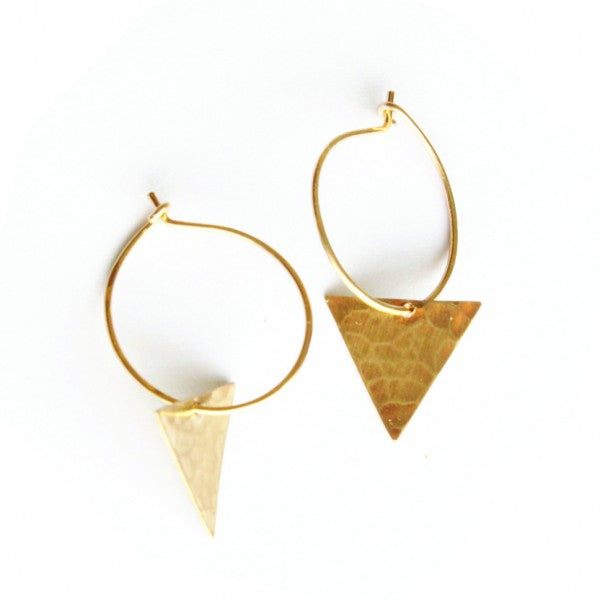 Triangle Dangle hoops - Jamison Rae Jewelry