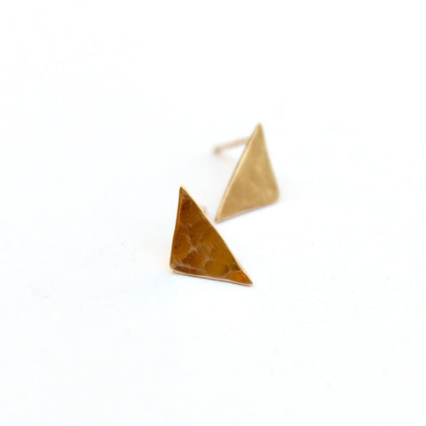 Triangular post earrings