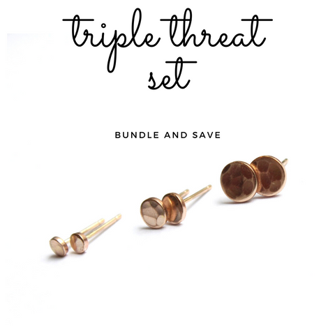 Triple Threat disc stud set (save 20 percent!)