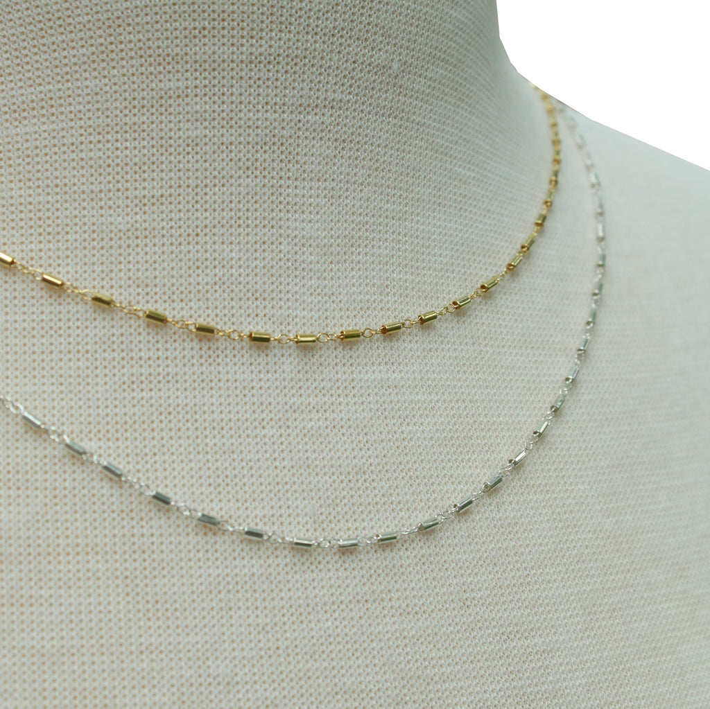 Tube Chain Layering necklace - Jamison Rae Jewelry