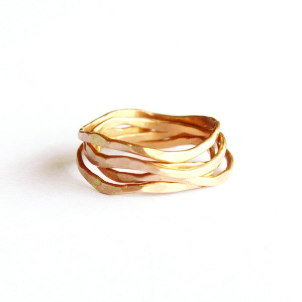 Wave Stacking Ring set