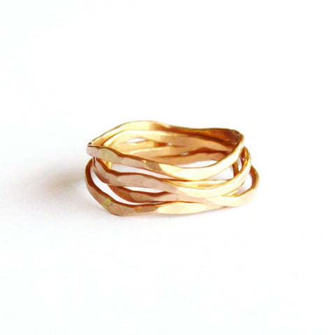 Wave Stacking Ring set - Jamison Rae Jewelry