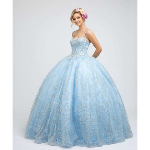 Bold and Glitter Mesh Ball Gown 1427W - Julietdresses