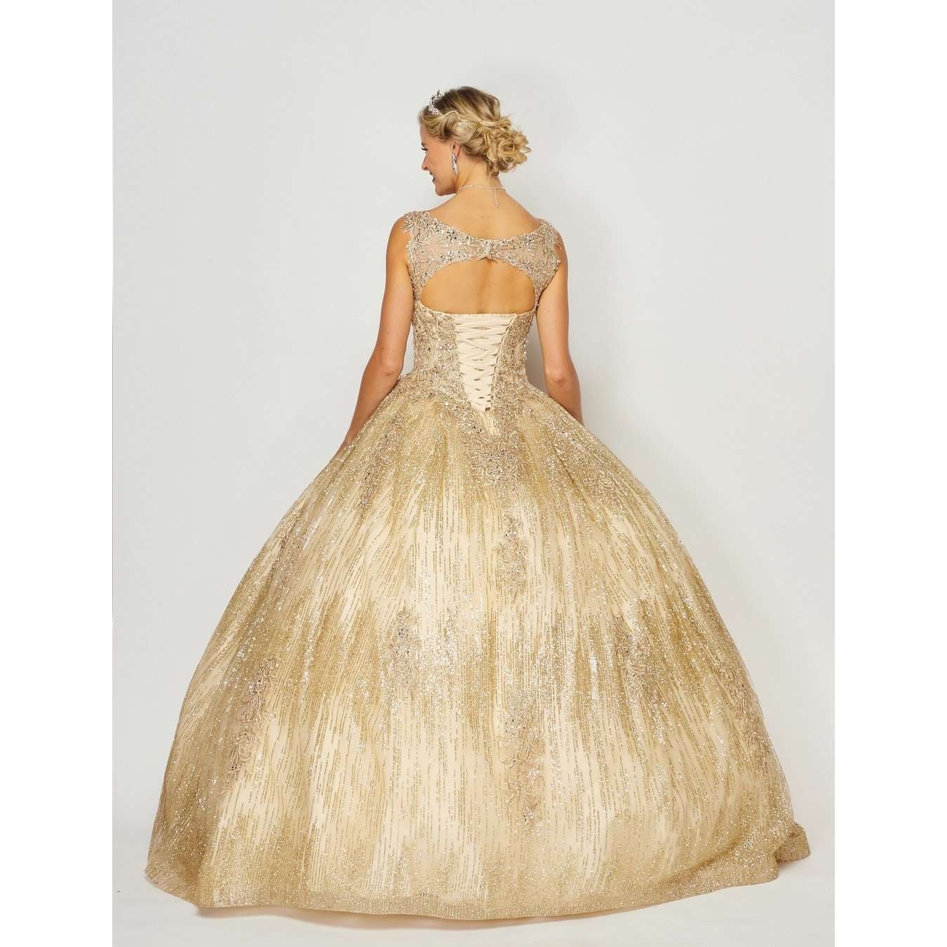 Glittering and Shining off the shoulder Ball Gown 1429 - Julietdresses