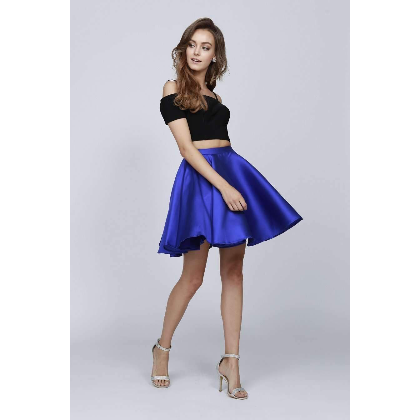 Two-Piece and Cold-Shoulder Short Dress 809 - Julietdresses