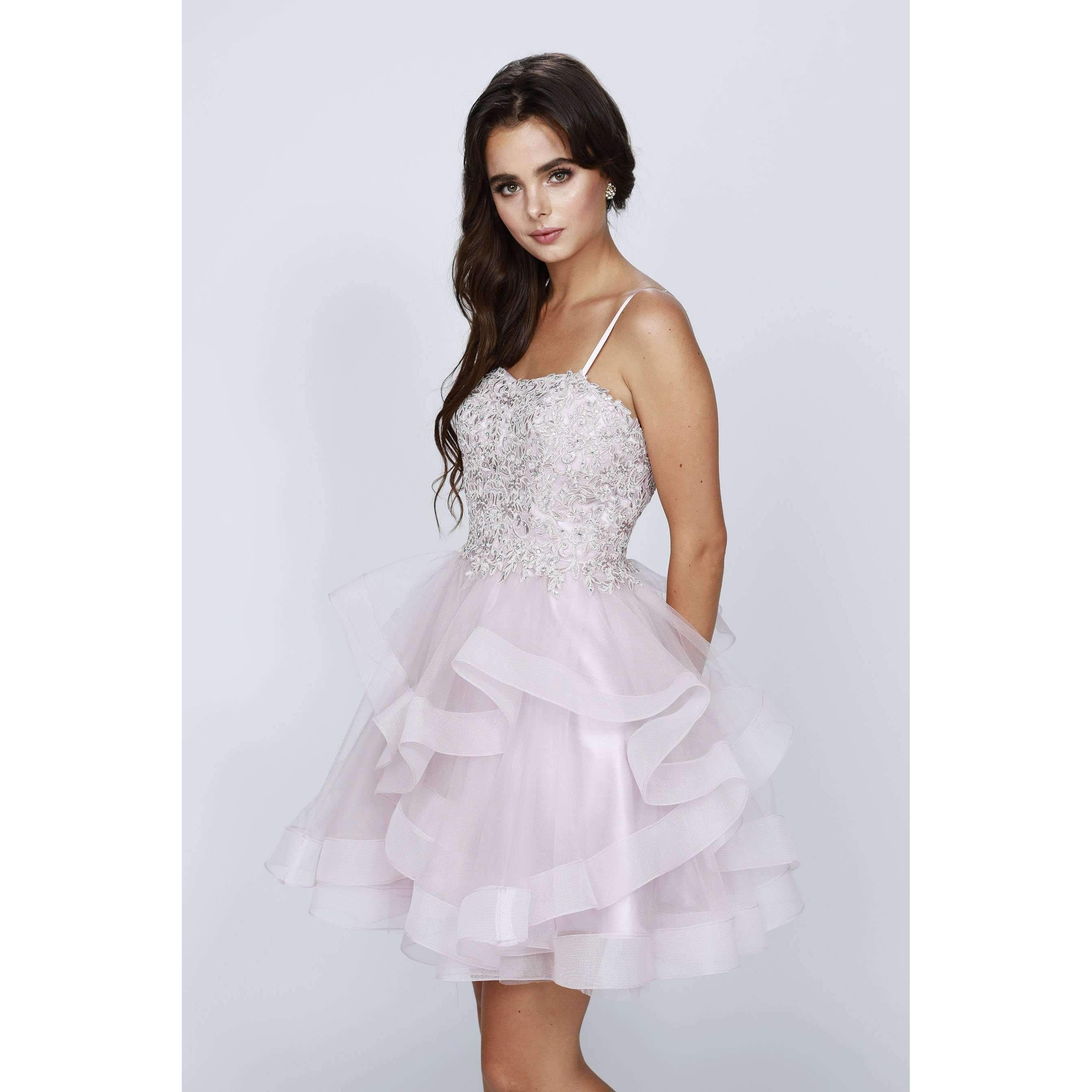 Tiered Tulle Strapless Short Dress 825 - Julietdresses