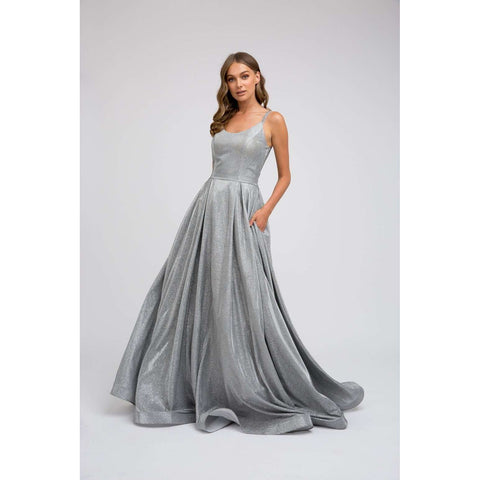 Long A-Line  Glitter Prom Gown 206 - Julietdresses