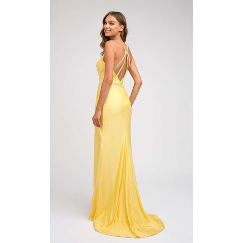 Ruched bodice Fitted Prom Evening Gown 233 - Julietdresses