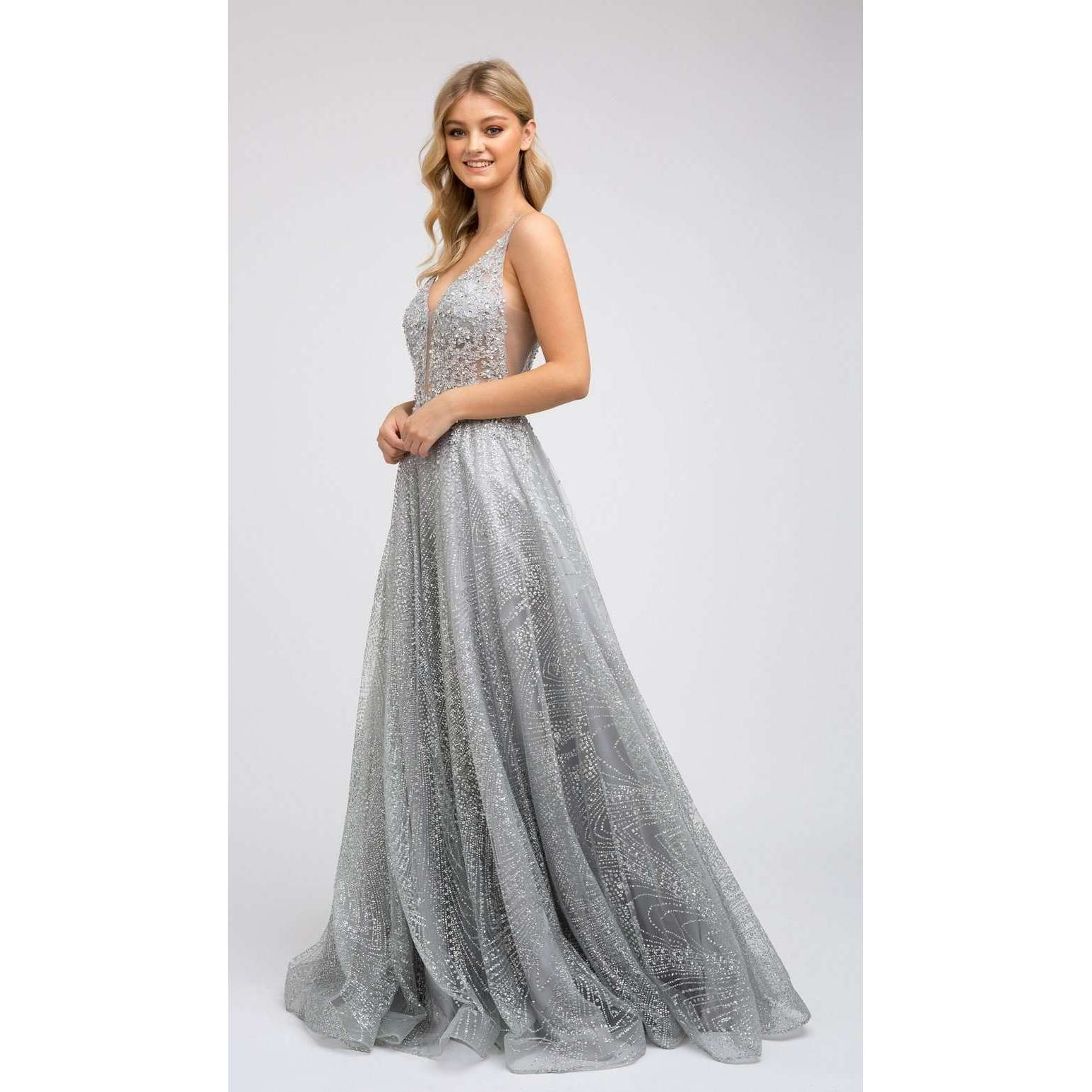 Embroidered Prom Evening Gown 235 - Julietdresses
