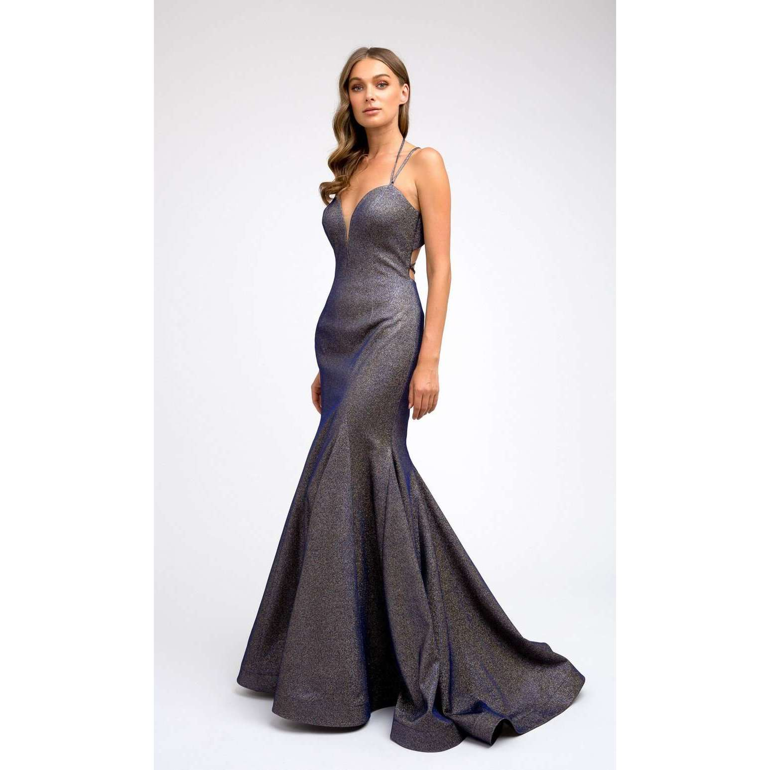 Fitted Metallic Prom Evening Gown 242 - Julietdresses