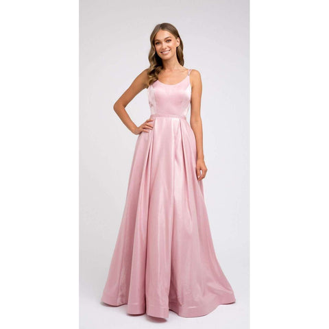 Rounded necklin A-line Prom Dress 244 - Julietdresses
