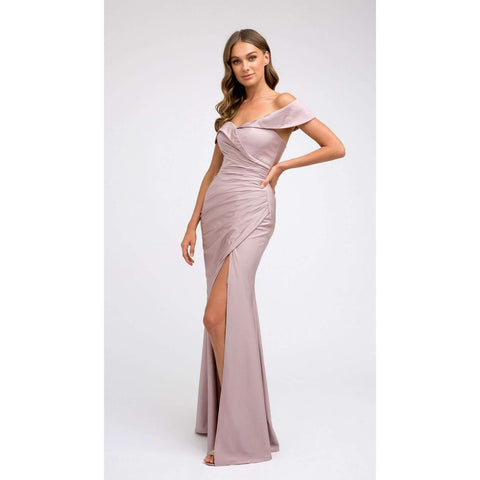 Off the Shoulder Fitted Prom Dress 245 - Julietdresses