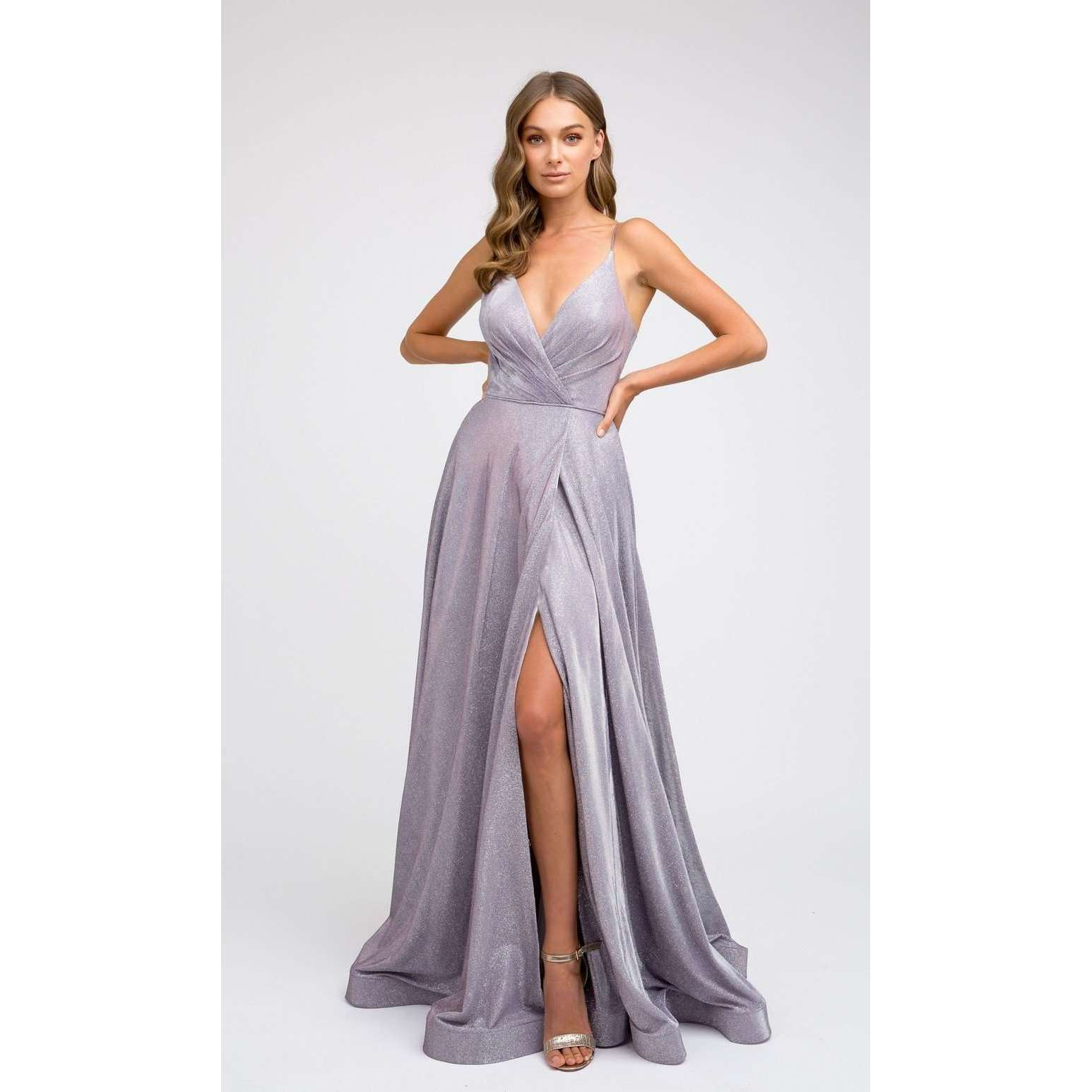Ruched V-Neck Formal Prom Dress 246 - Julietdresses
