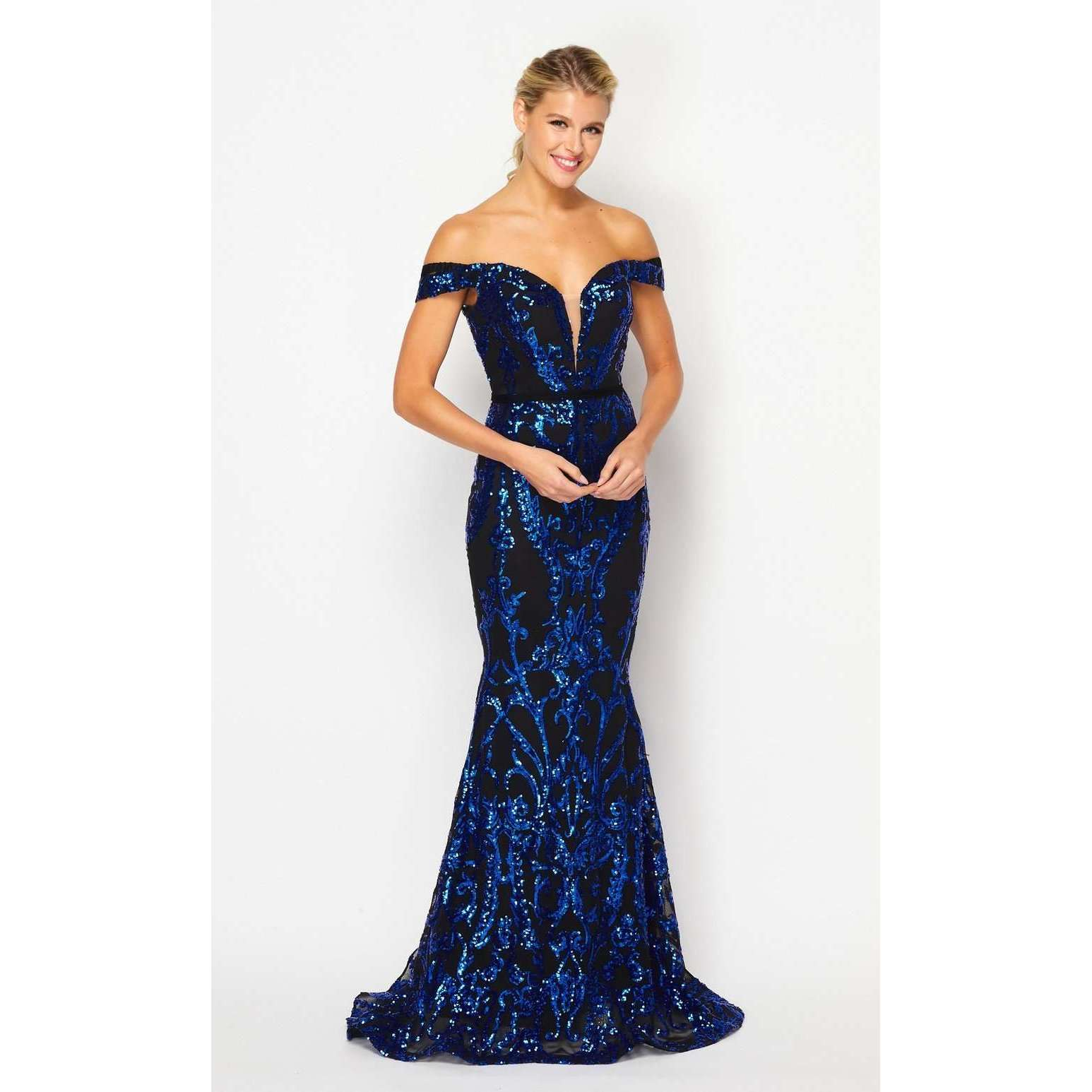 Off the Shoulder Sequin Prom Evening Dress 247 - Julietdresses