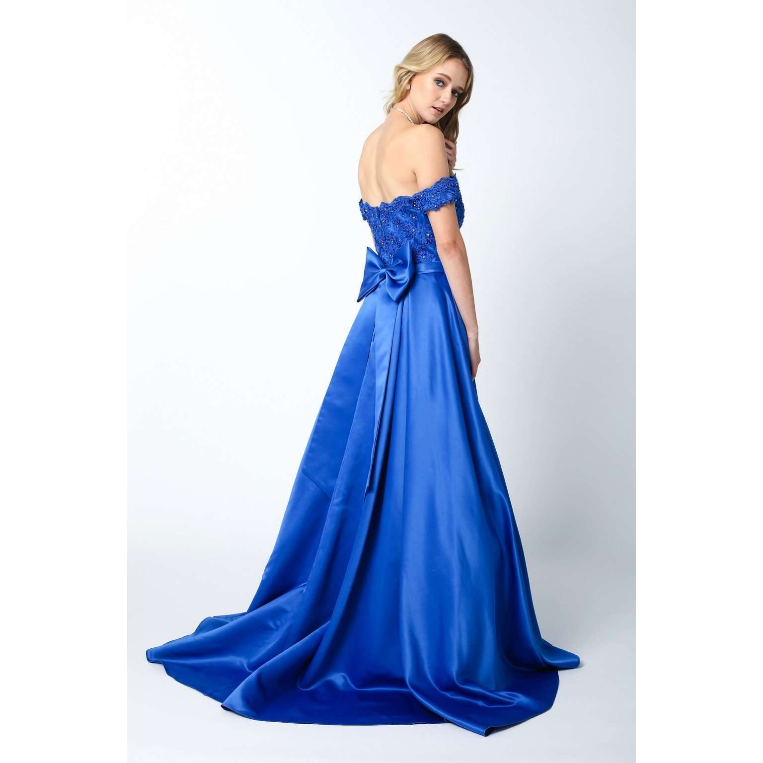 Embellished Bodice Off the Shoulder Prom Ballgown  371 - Julietdresses