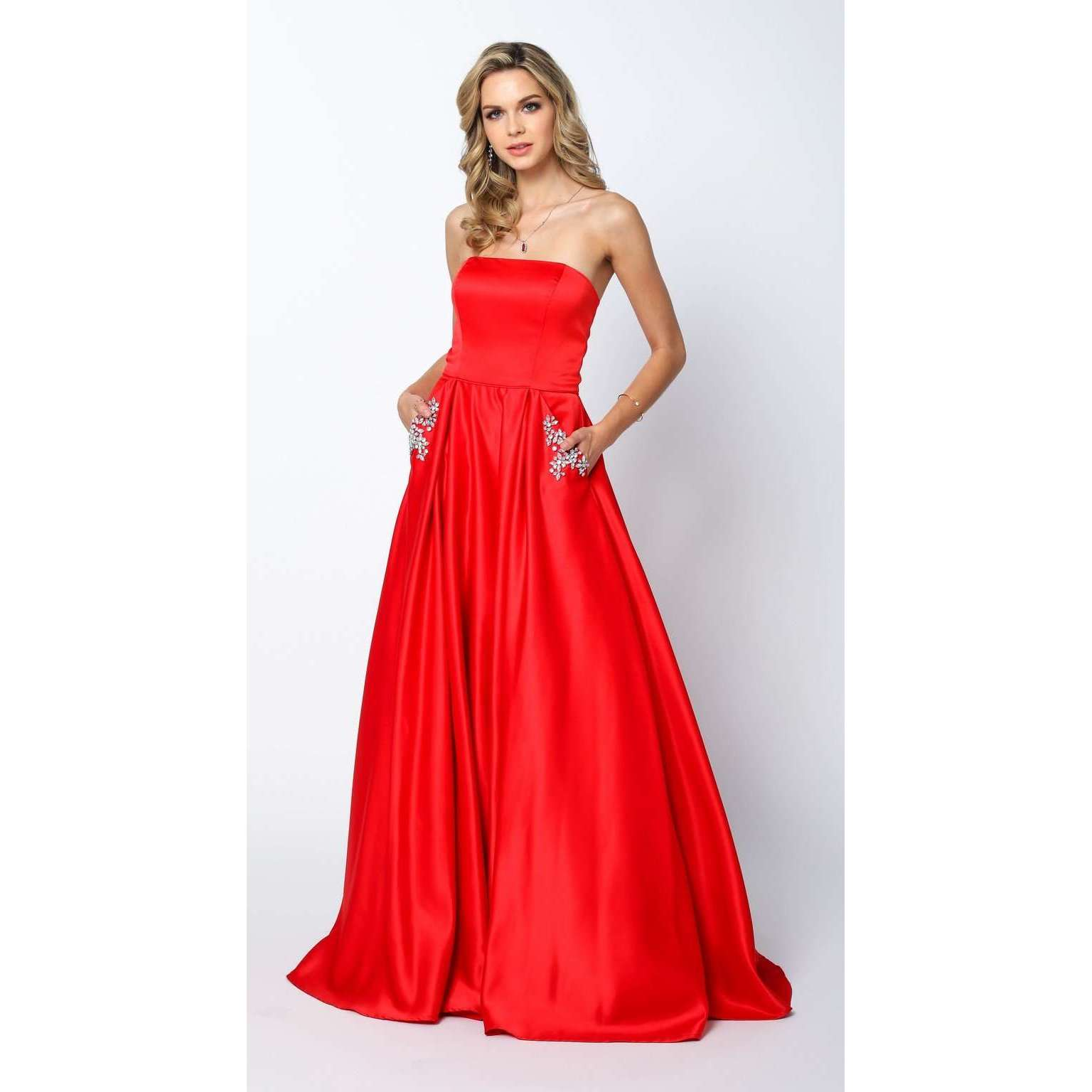 Strapless Ball Gown Style Prom Dress 372 - Julietdresses