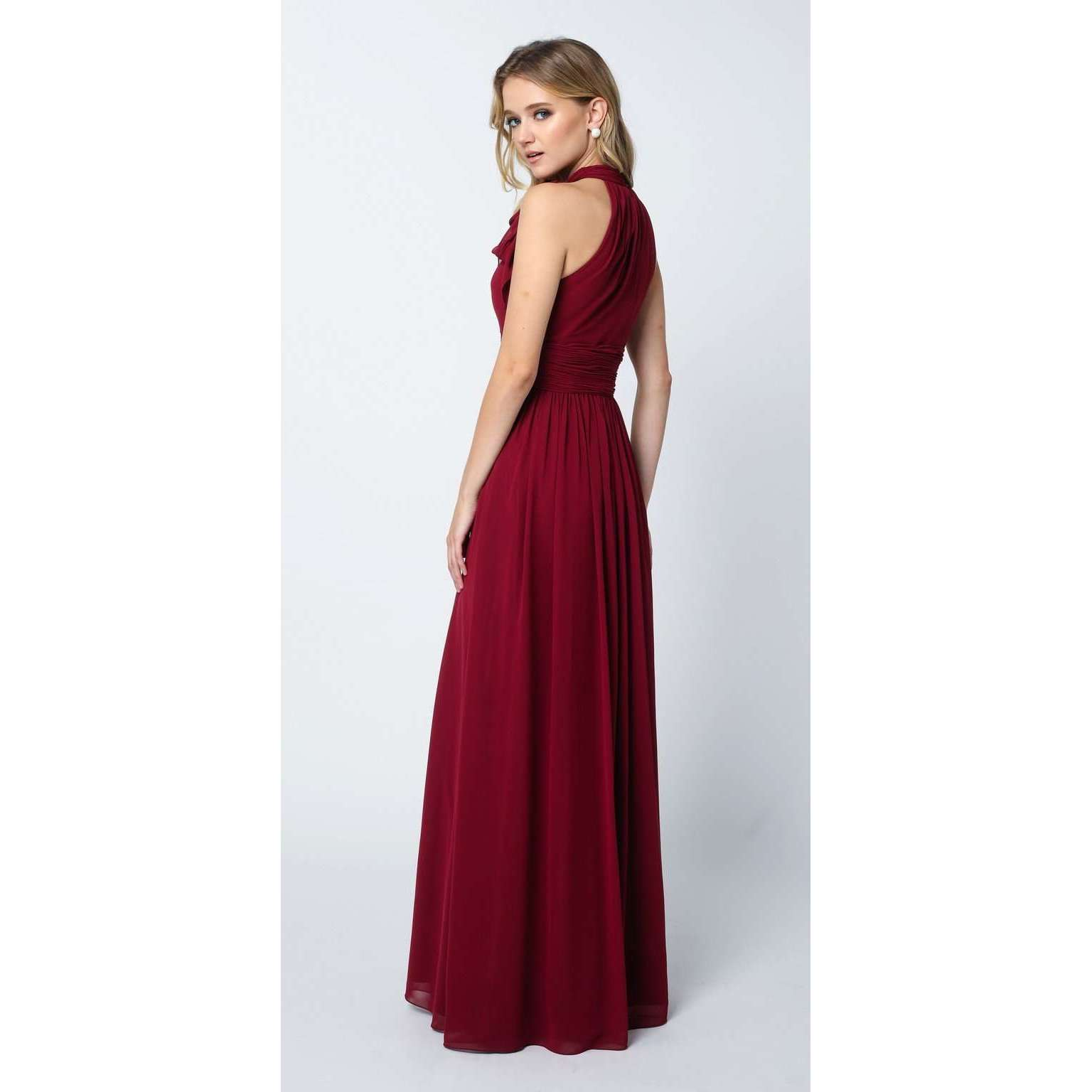 Long Sleeveless High-Neck Prom Dress 672 - Julietdresses