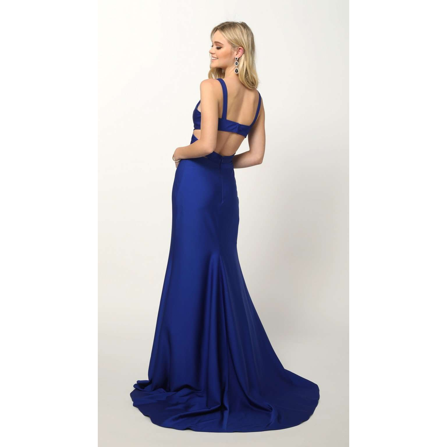 Fitted Jersey Cut Outs Prom Dress 673 - Julietdresses