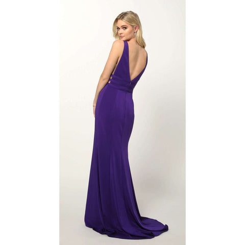 Illusion Front and side Panels Jersey Prom Dress 674 - Julietdresses