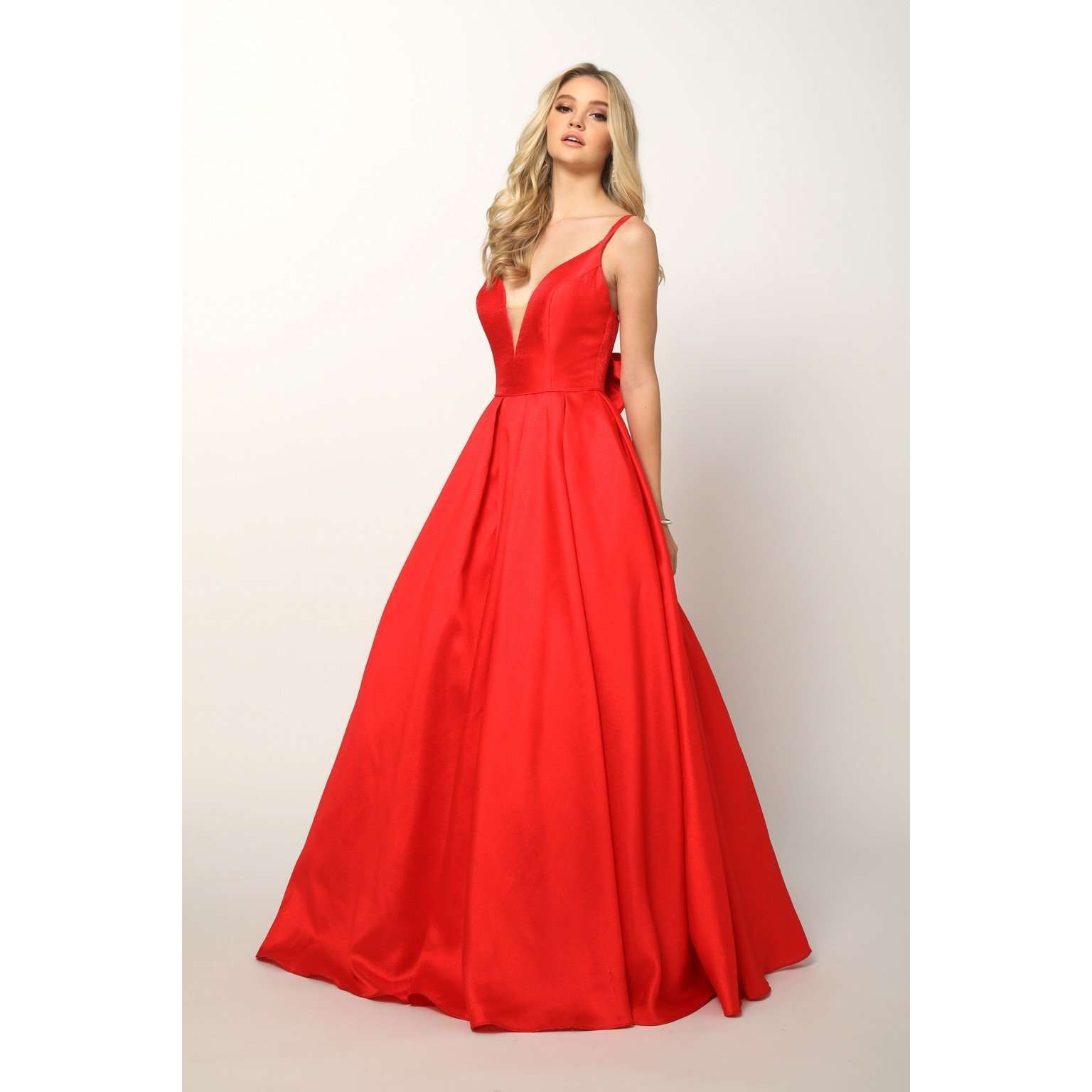 Ball Gown Style Prom Dress with Removable Bow 686 - Julietdresses