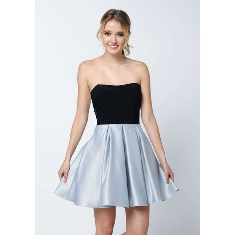 Two Tone Sweetheart Short Dress 829 - Julietdresses