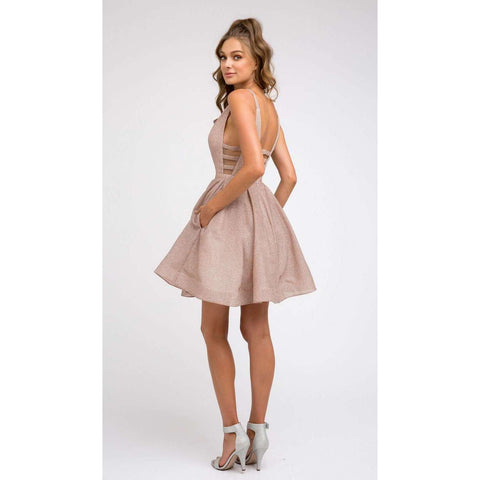Metallic Illusion  Party Dress 851 - Julietdresses