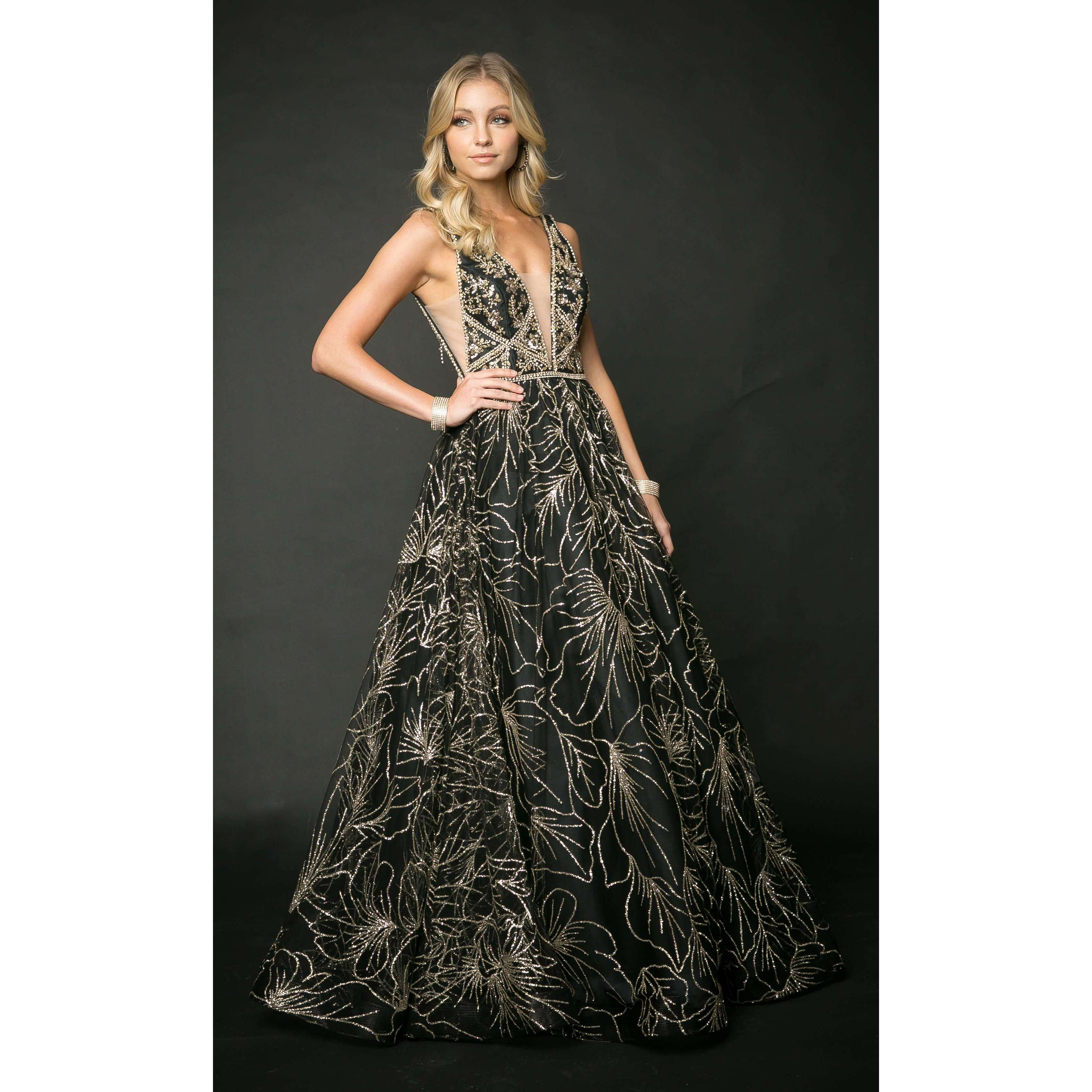 Embellishments Bodice Swirling patterns Tulle Ball gown 211 - Julietdresses