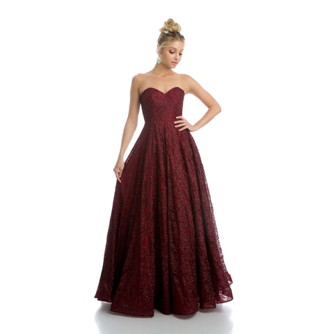 Glitter Lace Sweet Heart Ball Gown Dress 217 - Julietdresses