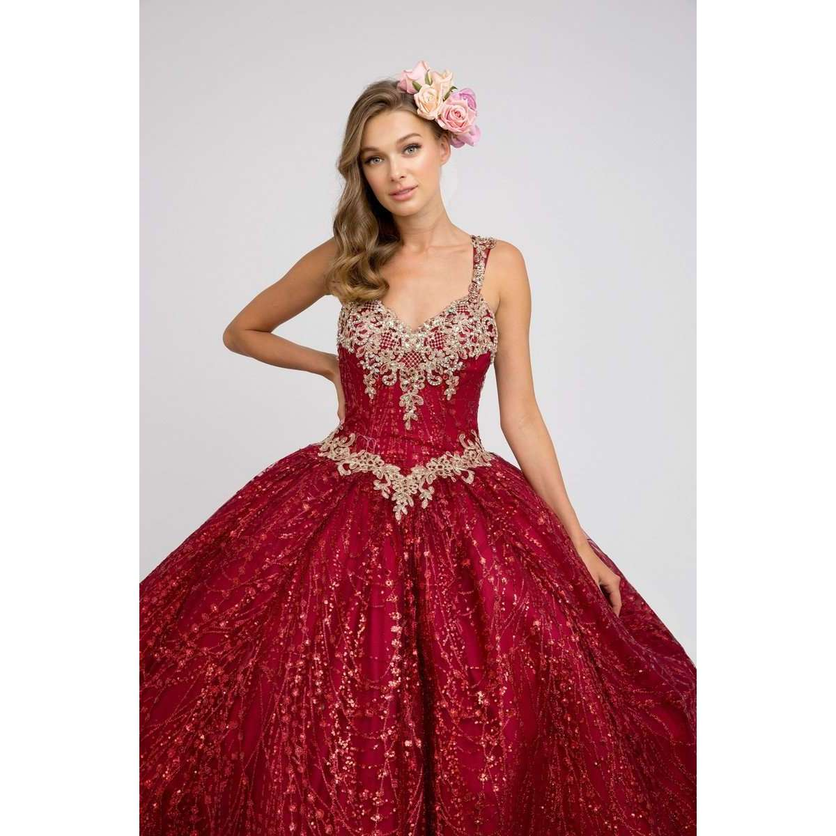Sweetheart Neckline Glitter Tulle Ball Gown 1428 - Julietdresses