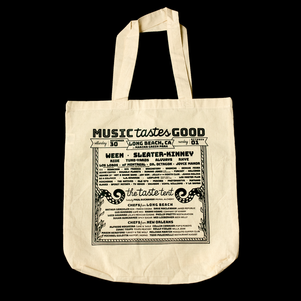 Music Tastes Good Tote Bag (Back)