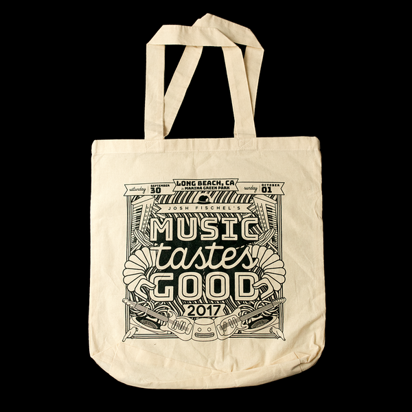 Music Tastes Good Tote Bag (Front)