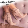 LOVELY  POINTED TOE CROSS-TIED BOOTS - KAWAII FASHION ADDICT Japanese Clothing Store
