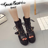 HIGH BLACK BOOTS - KAWAII FASHION ADDICT Japanese Clothing Store
