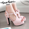 SWEET BOWTIE HIGH HEELS - KAWAII FASHION ADDICT Japanese Clothing Store