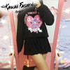 KAWAII DEVIL BEAR SWEATSHIRT - KAWAII FASHION ADDICT Japanese Clothing Store