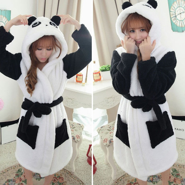 PANDA Hooded Bathrobe