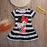 Girls Minnie Mouse Cartoon Cotton Flower T-shirt Dress