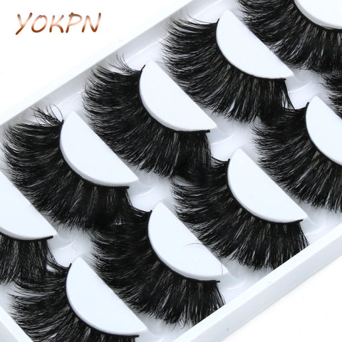5 pair Messy Thick Exaggerated Long Mink EyeLashes