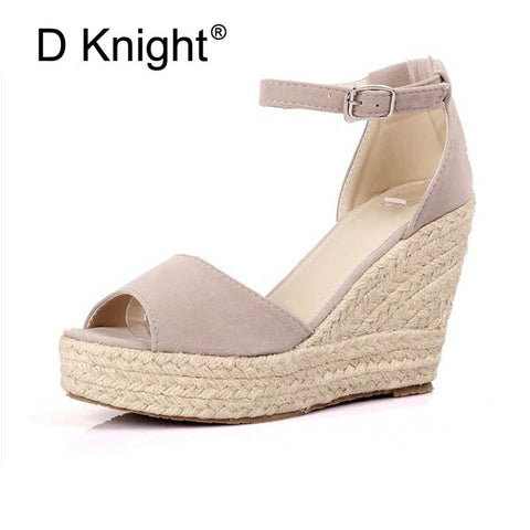 Summer Women's Peep-Toe Wedge shoes