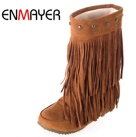 Shoes/Women's/Girls—Fringe Winter Boots starting at size 4