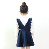 Girls Ruffle School Dress