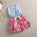 Girls Flower Ruffled Dress