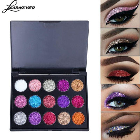 Pressed Matte Glitter Shimmer Palette Diamond Eye Shadow